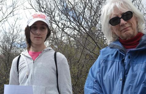 AHA student Demetria Poulus and Peg Bowden