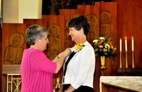 Joan Pikiell gets SSND pin